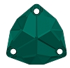 Swarovski 3272 Trilliant Sew-On 20mm Emerald (15 Pieces)