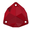 Swarovski 3272 Trilliant Sew-On 20mm Scarlet (15 Pieces)