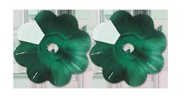 Glass Marguerite 10mm Emerald Green Crystal Sew On Rhinestone Flower Beads stone