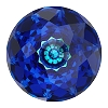 Swarovski 1400 Dome Round Stones 10mm Crystal Bermuda Blue (72 Pieces)