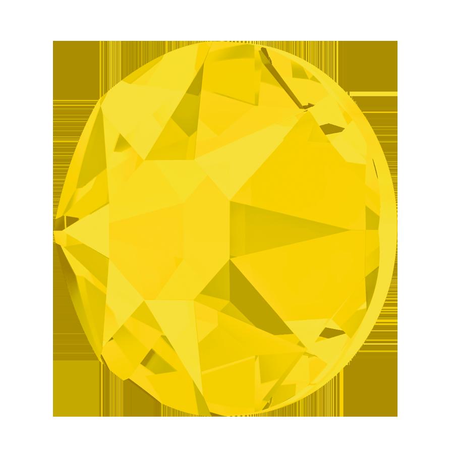 SS20 Swarovski 2078 Hotfix Flatback Crystals Yellow Opal Pack of 24 K66//14