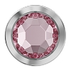 Swarovski 2078/H Hot Fix Framed Flatback Rhinestones SS16 Light Rose with Palladium Ring (1,440 Pieces)