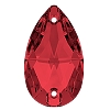 Swarovski 3230 Pear Sew-On 18x10.5mm Scarlet (72 Pieces)
