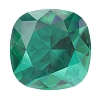 Swarovski 4470 Cushion Cut Square Fancy Stone 10mm Emerald Ignite