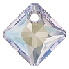 Swarovski 6431 Princess Cut Pendant 9mm Crystal Shimmer