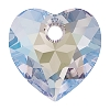 Swarovski 6432 Heart Cut Pendant 10.5mm Crystal Shimmer