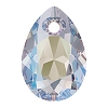 Swarovski 6433 Pear Cut Pendant 11.5mm Crystal Shimmer