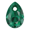 Swarovski 6433 Pear Cut Pendant 9mm Emerald