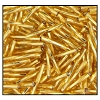 Twisted Bugle Bead #2403 #3 17050 Gold Transparent Silver Lined (1/2 Kilo) - CLEARANCE