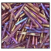 Twisted Bugle Bead #2403 15mm 21060 Amethyst Transparent Iris (1/2 Kilo) - CLEARANCE