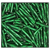 Twisted Bugle Bead #2403 #3 57620 Dark Emerald Transparent Silver Lined (1/2 Kilo) - CLEARANCE