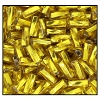 Twisted Bugle Bead #2403 #2 87010 Citrine Transparent Silver Lined (1/2 Kilo) - CLEARANCE