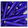 Twisted Bugle Bead #2403 30mm 37100 Cobalt Transparent Silver Lined (1/2 Kilo) - CLEARANCE