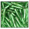 Twisted Bugle Bead #2403 #5 57100 Light Green Transparent Silver Lined (1/2 Kilo) (LOOSE) - CLEARANCE
