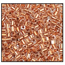 2 Cut Bead (2x) #2200 11/0 68105 Crystal/Copper Lined (1/2 Kilo) - CLEARANCE