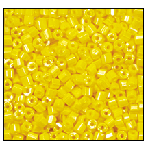 2 Cut Bead (2x) #2200 11/0 88110 Yellow Opaque Luster (1/2 Kilo)