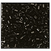 2 Cut Bead (2x) #2200 10/0 23980 Black Opaque (1/2 Kilo)