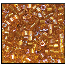 2 Cut Bead (2x) #2200 11/0 11070 Medium Topaz Transparent Iris (1/2 Kilo)