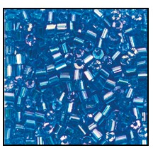2 Cut Bead (2x) #2200 11/0 61150 Aqua Transparent Iris (1/2 Kilo) - CLEARANCE