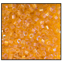 2 Cut Bead (2x) #2200 11/0 81060 Very Light Orange Transparent Iris (1/2 Kilo)
