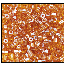 2 Cut Bead (2x) #2200 11/0 16050 Topaz Transparent Luster (1/2 Kilo)