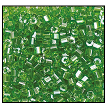 2 Cut Bead (2x) #2200 11/0 56430 Green Transparent Luster (1/2 Kilo)