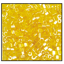 2 Cut Bead (2x) #2200 11/0 86010 Yellow Transparent Luster (1/2 Kilo)