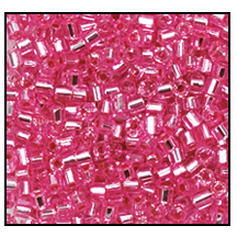 2 Cut Bead (2x) #2200 11/0 08275 Pink Transparent Silver Lined (Terra) (1/2 Kilo)