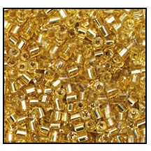 2 Cut Bead (2x) #2200 11/0 17020 Straw Gold Transparent Silver Lined (1/2 Kilo) - CLEARANCE