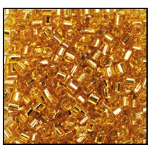 2 Cut Bead (2x) #2200 11/0 17050 Gold Transparent Silver Lined (1/2 Kilo)