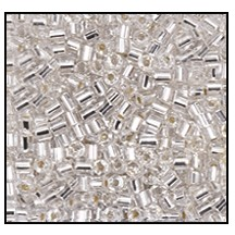 2 Cut Bead (2x) #2200 11/0 78102 Crystal Transparent Silver Lined (1/2 Kilo)