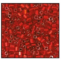 2 Cut Bead (2x) #2200 9/0 97070 Light Red Transparent Silver Lined (1/2 Kilo) - CLEARANCE