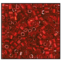 2 Cut Bead (2x) #2200 9/0 97090 Dark Red Transparent Silver Lined (1/2 Kilo) - CLEARANCE