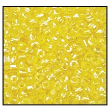 3 Cut Bead (3x) #2300 9/0 38686 Crystal/Jonquil Lined (1 Bunch)