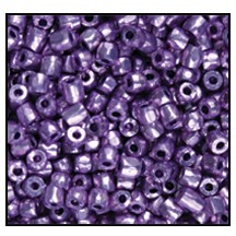 3 Cut Bead (3x) #2300 9/0 18528 Lilac Metallic (Terra) (1 Bunch)