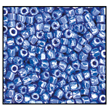 3 Cut Bead (3x) #2300 9/0 38020 Blue Opaque Luster (1 Bunch)