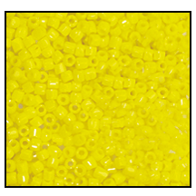 3 Cut Bead (3x) #2300 9/0 83110 Yellow Opaque (1 Bunch)