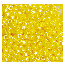 3 Cut Bead (3x) #2300 9/0 88110 Yellow Opaque Luster (1 Bunch)