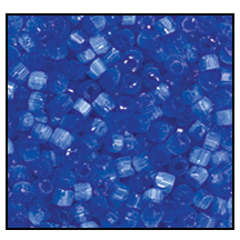 3 Cut Bead (3x) #2300 9/0 35061 Blue Satin (1 Bunch)