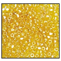3 Cut Bead (3x) #2300 9/0 86010 Yellow Transparent Luster (1 Bunch)