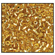 3 Cut Bead (3x) #2300 9/0 17050 Gold Transparent Silver Lined (1 Bunch)