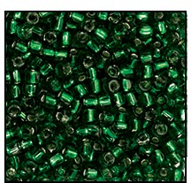 3 Cut Bead (3x) #2300 9/0 57060 Emerald Transparent Silver Lined (1 Bunch)