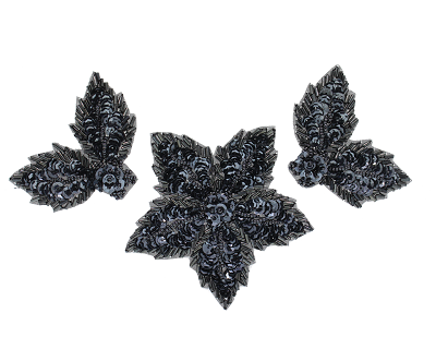 Beaded & sequin applique flowers ks8624
