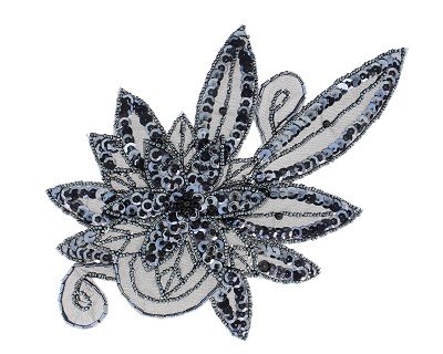 Beaded & sequin applique flower s8915 harman