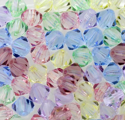 "Preciosa Crystal Bicone Bead ""Pastel Passion Mix"" (Mix #9) #6250 6mm (144 Pieces) - CLEARANCE"