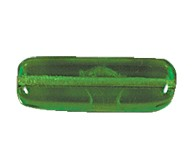Flat Rectangle Beads #4156 Kelly Green 17x6mm (300 Pieces)