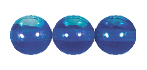 Druk Smooth Round Beads #4150 6MM Sapphire AB (1,200 Pieces)