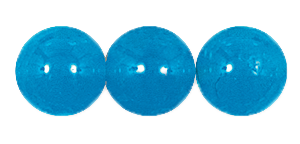 Druk Smooth Round Beads #4150 6MM Capri Blue Opal (1,200 Pieces)