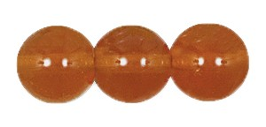Druk Smooth Round Beads #4150 6MM Carnelian (1,200 Pieces)