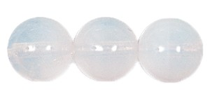 Druk Smooth Round Beads #4150 10MM White Opal (300 Pieces)